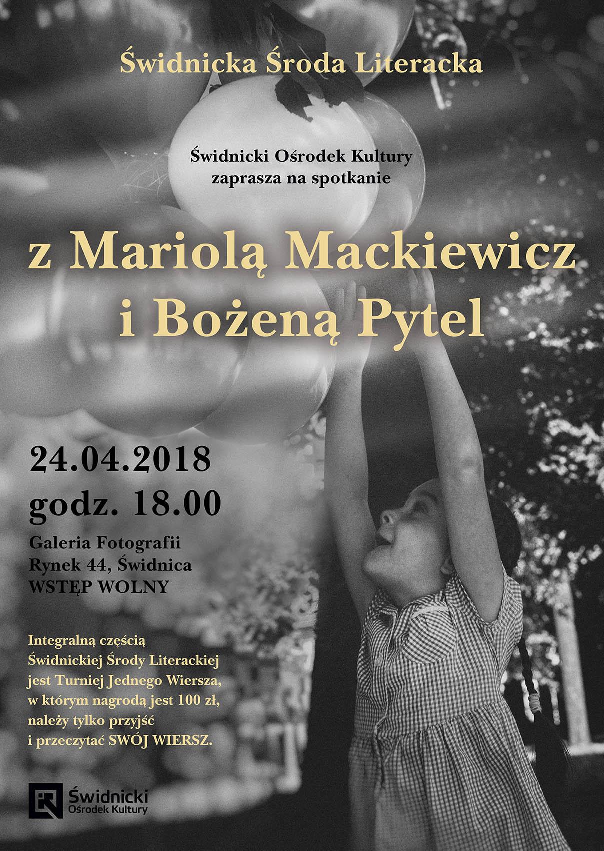 świdnicka środa Literacka Mariola Mackiewicz I Bożena