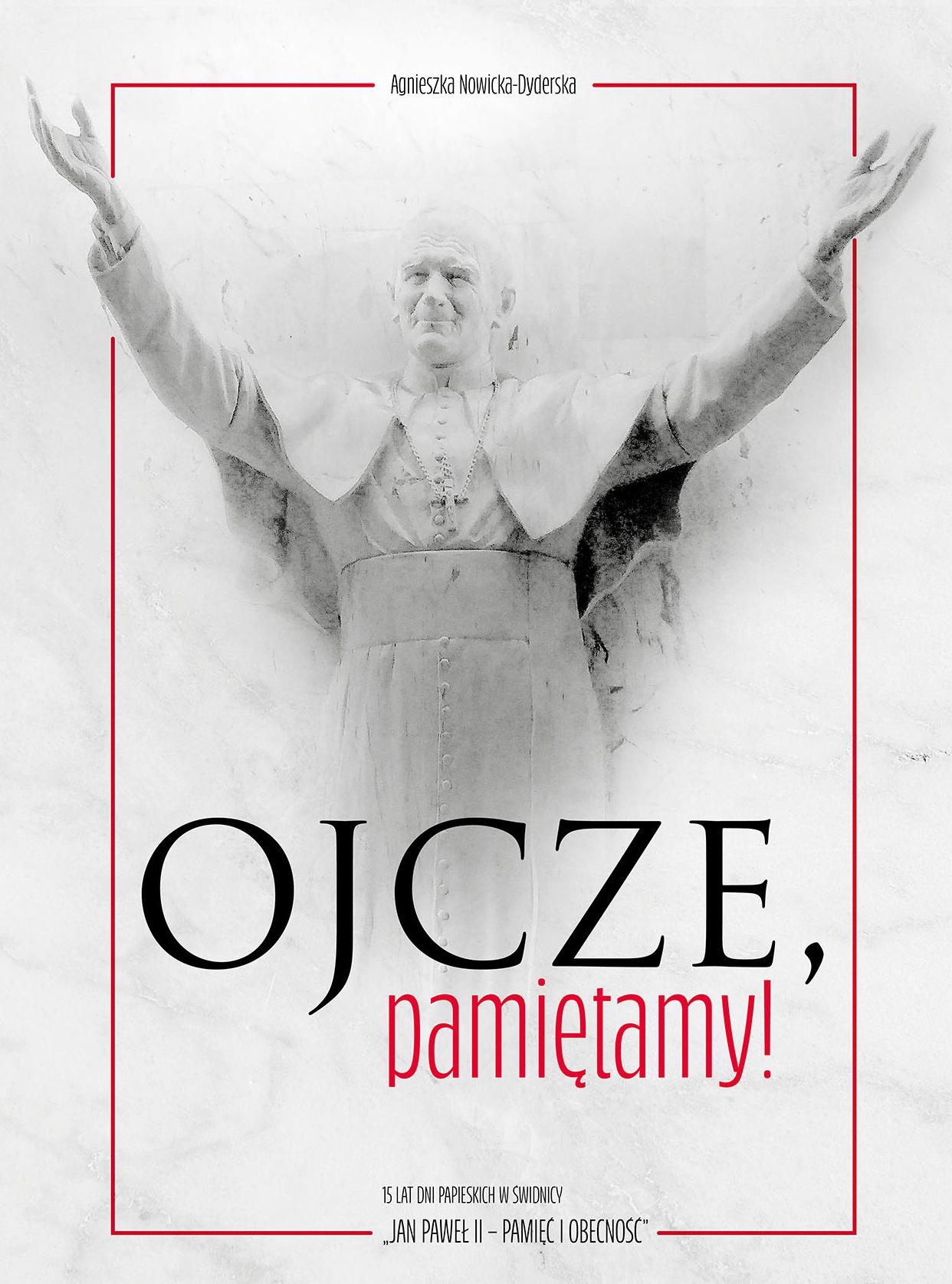 okładka książki z Janem Pawłem II - jego postać w szarościach, rozświetlona